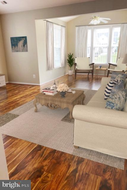 Virtually staged Sitting Room/Sun Room - 6293 CULVERHOUSE CT, GAINESVILLE