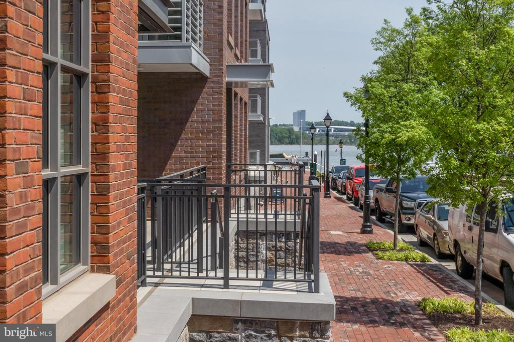 View of River from front porch on Wolfe St. - 16 BAKERS WALK #104, ALEXANDRIA