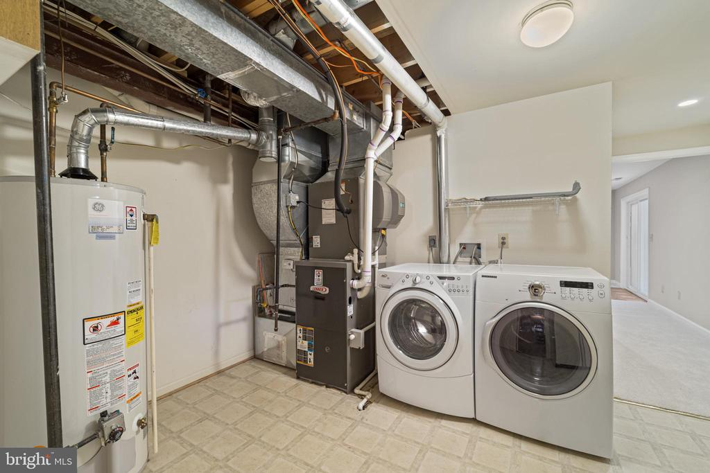 Laundry and utility room - 8104 CREEKVIEW DR, SPRINGFIELD
