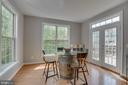 Breakfast Nook with Dual French Doors to Deck - 13297 SCOTCH RUN CT, CENTREVILLE
