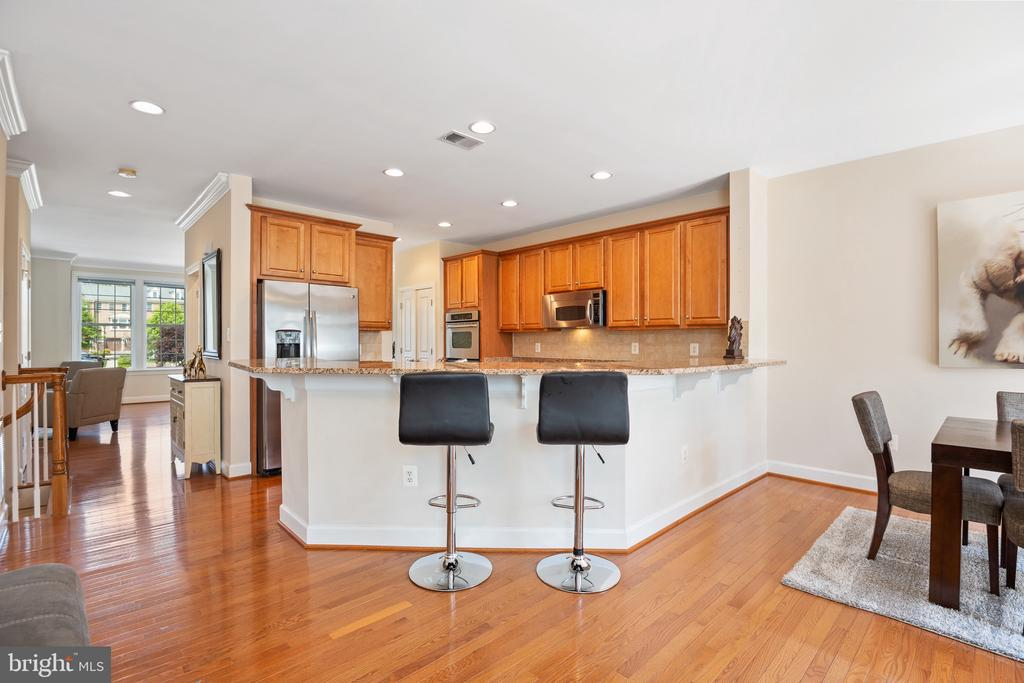 Massive L-Shaped island in the kitchen - 115 GRACIE PARK DR, HERNDON