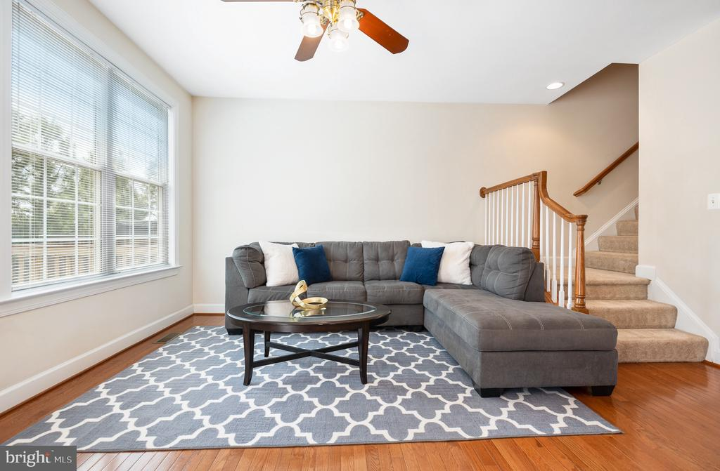 Natural light fills this open living space - 115 GRACIE PARK DR, HERNDON