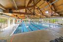 Indoor pool at the Lansdowne community club - 43575 WILD INDIGO TER, LEESBURG