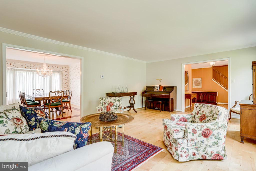 Another view of the bright, spacious living room - 19 GRISWOLD CT, POTOMAC FALLS