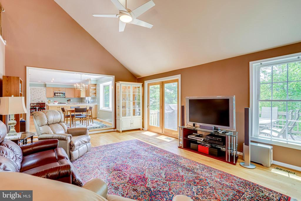 Vaulted ceiling in family room - 19 GRISWOLD CT, POTOMAC FALLS