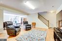 Walk down to a large bright recreation room - 19 GRISWOLD CT, POTOMAC FALLS