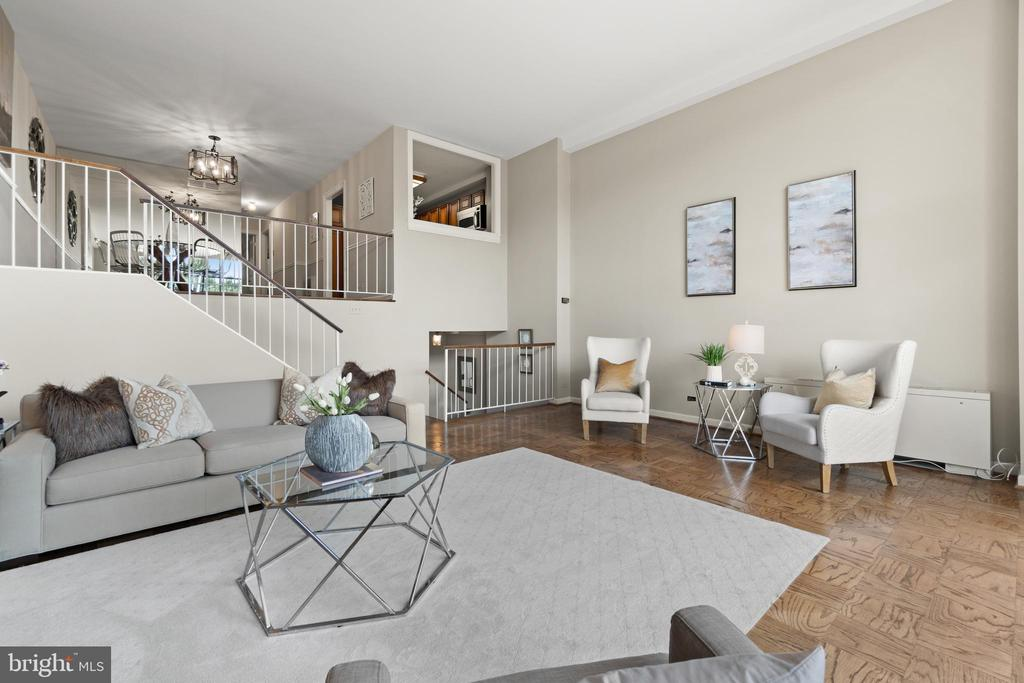 Living Room with view of Kitchen Pass-Thru - 1200 N NASH ST #240, ARLINGTON