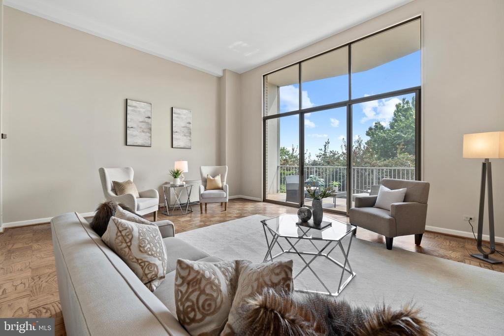 Floor to ceiling windows - 1200 N NASH ST #240, ARLINGTON