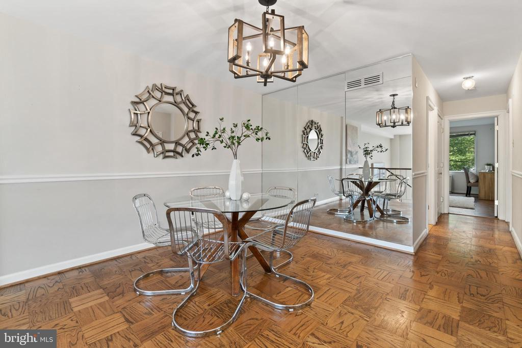 Formal Dining Room with 2nd Bedroom view - 1200 N NASH ST #240, ARLINGTON