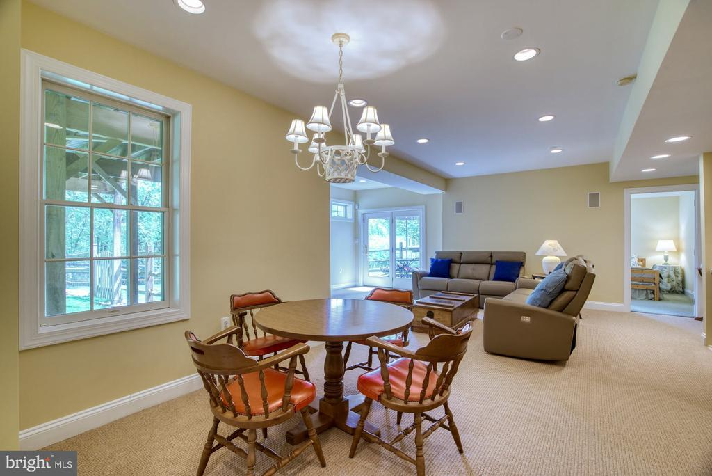 Basement Recroom with lots of Natural Light - 1269 COBBLE POND WAY, VIENNA