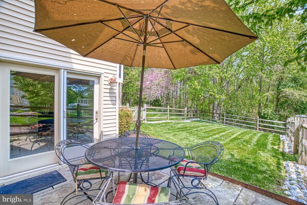 Patio off Basement Recroom and Fenced Yard - 1269 COBBLE POND WAY, VIENNA