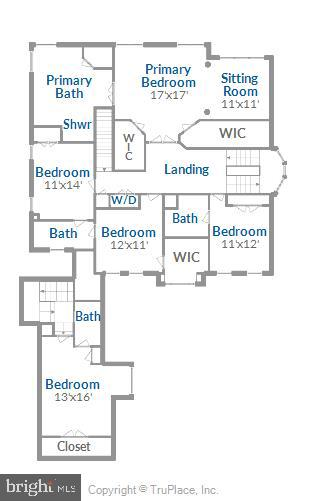 Upper Level Floor Plan - 18349 MID OCEAN PL, LEESBURG