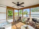 Screened porch with fan  and stairs to backyard - 4 BERTRAM BLVD, STAFFORD