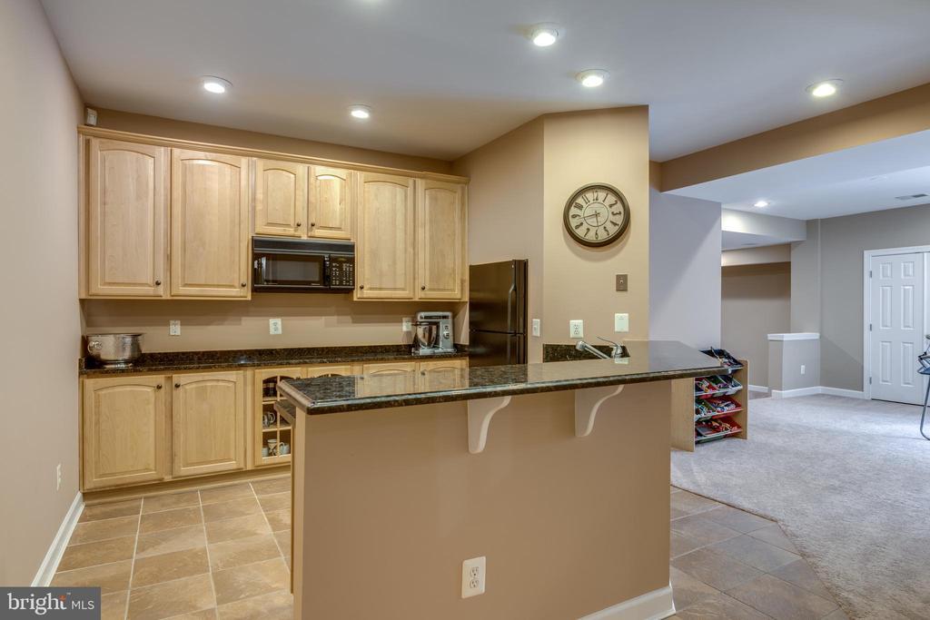 Full Lower level Wet Bar with Full fridge & Micro - 47788 SAULTY DR, STERLING