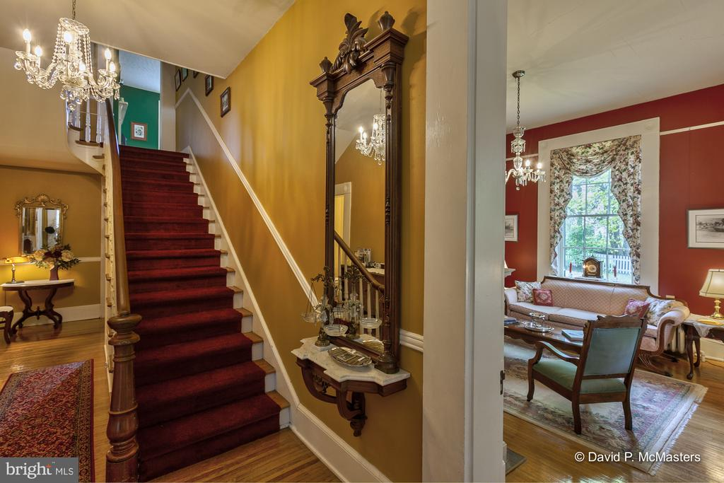Living room/ Parlor opens off of entry hall - 417 E WASHINGTON ST, CHARLES TOWN