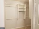 Master closet - 5832 CANVASBACK RD, BURKE