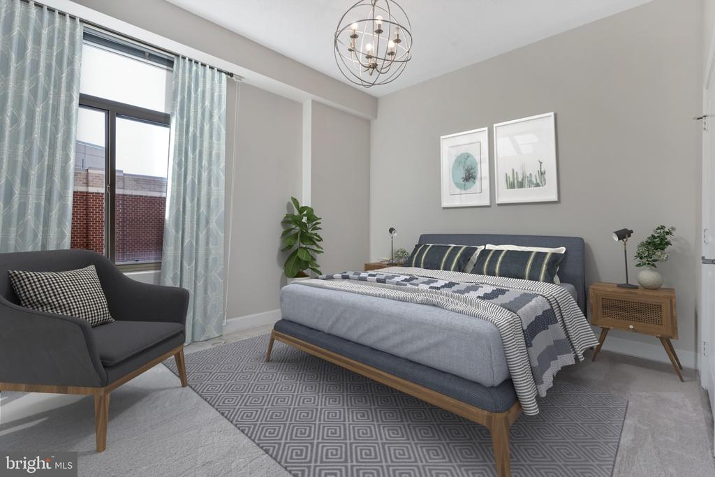 Large master bedroom with new carpet - 3600 S GLEBE RD #622W, ARLINGTON