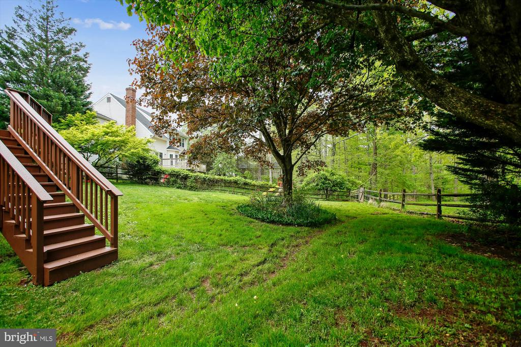 Back yard - 826 POTOMAC RIDGE CT, STERLING