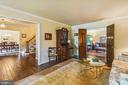 Living room opens to family room - 11949 GREY SQUIRREL LN, RESTON