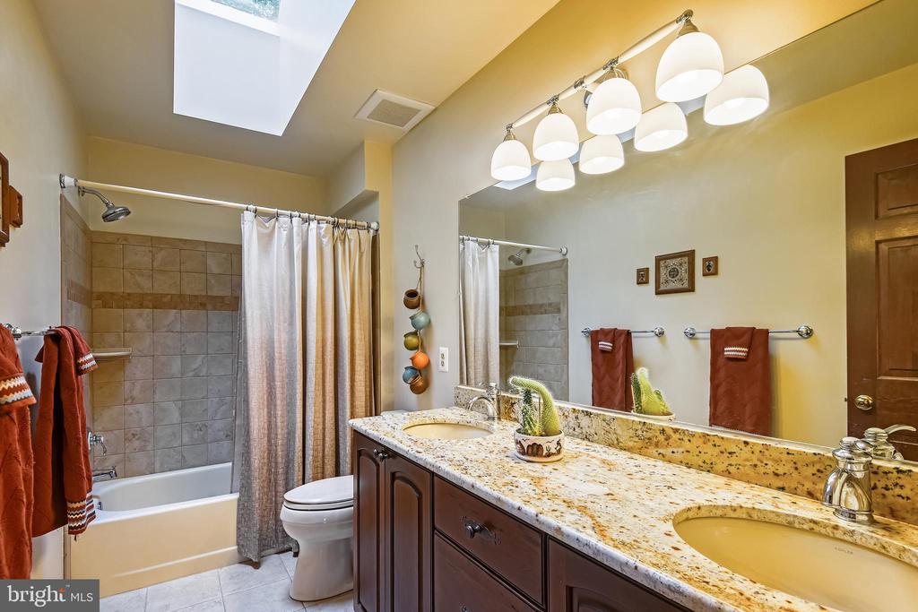 Hall bath with double sinks - 11949 GREY SQUIRREL LN, RESTON