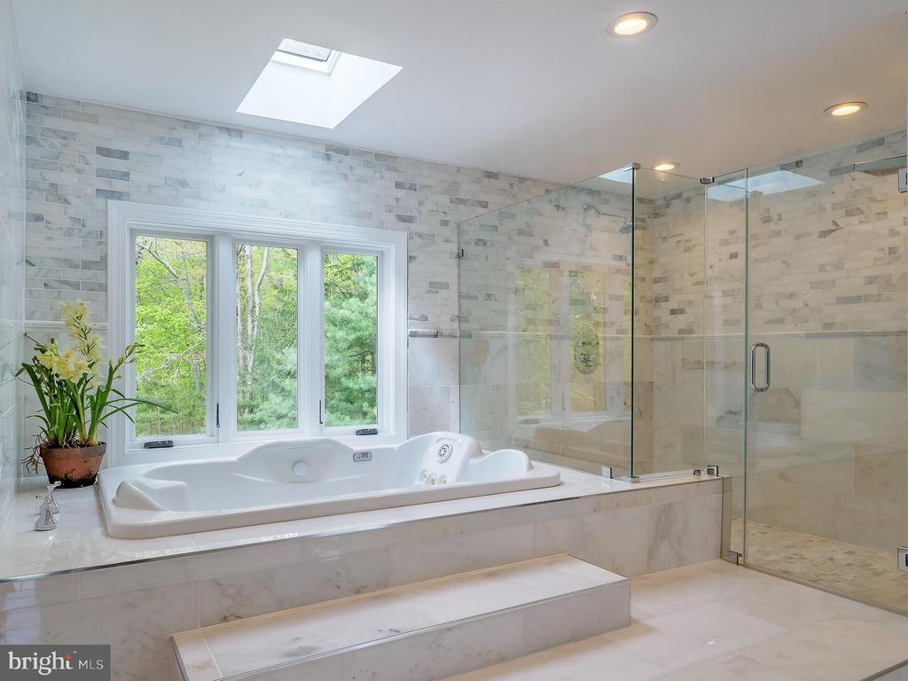 Beautiful primary bath with spa like feel - 11009 HAMPTON RD, FAIRFAX STATION