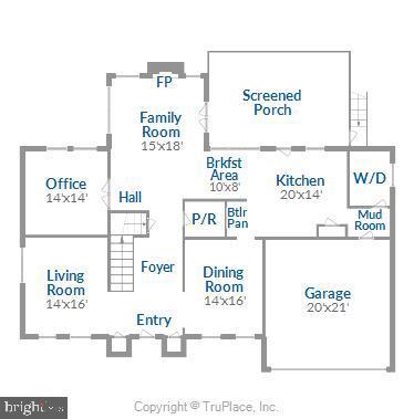Main Level Floor Plan - 43690 MINK MEADOWS ST, CHANTILLY