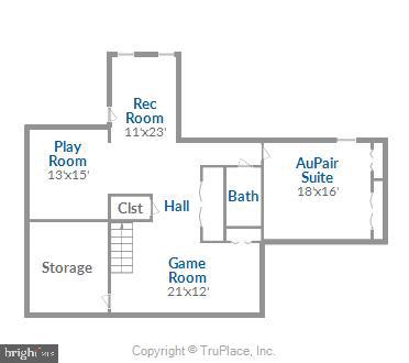 Lower Level Floor Plan - 43690 MINK MEADOWS ST, CHANTILLY