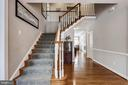 Curved Staircase, Upgraded Carpeting - 43690 MINK MEADOWS ST, CHANTILLY