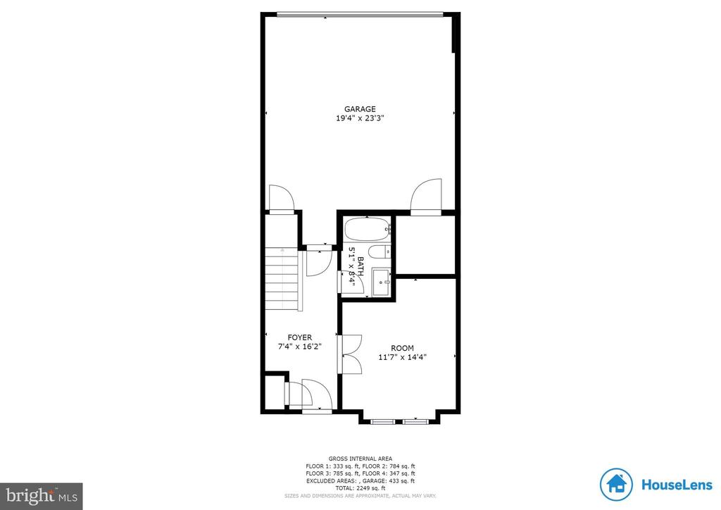 1st Level Floor Plan - 2058 ALDER LN, DUMFRIES