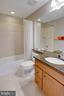 Lower level upgraded full bath - 24960 ASHGARTEN DR, CHANTILLY