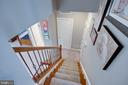 Stairs to lower level - 24960 ASHGARTEN DR, CHANTILLY