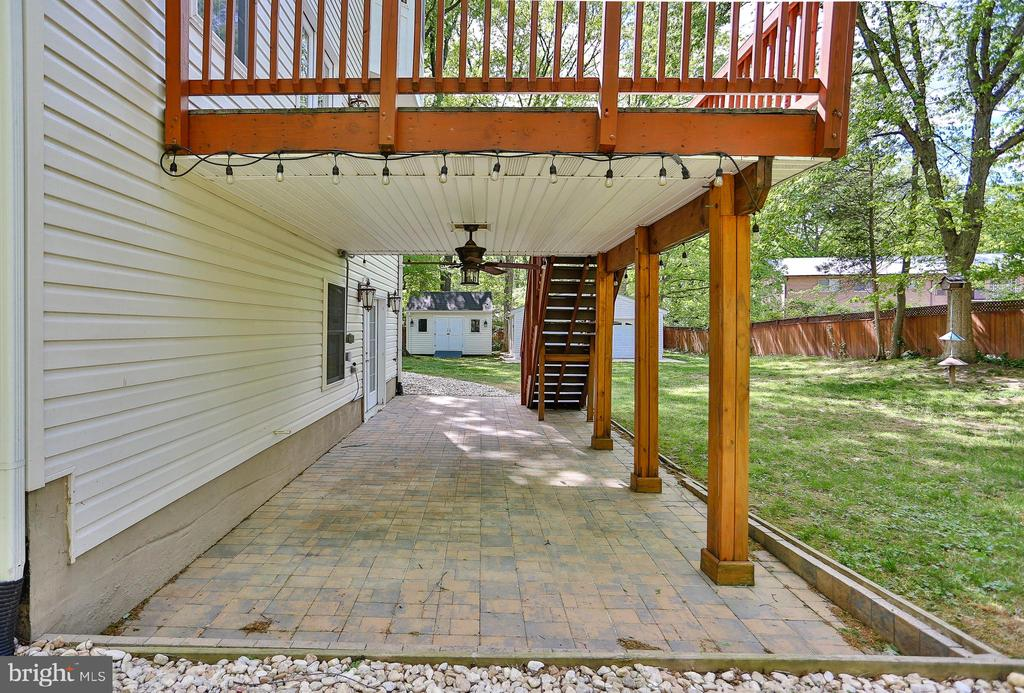 Covered Patio under Deck - 7215 TANAGER ST, SPRINGFIELD