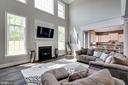 Family room opens to the kitchen - 2094 TWIN SIX LN, DUMFRIES