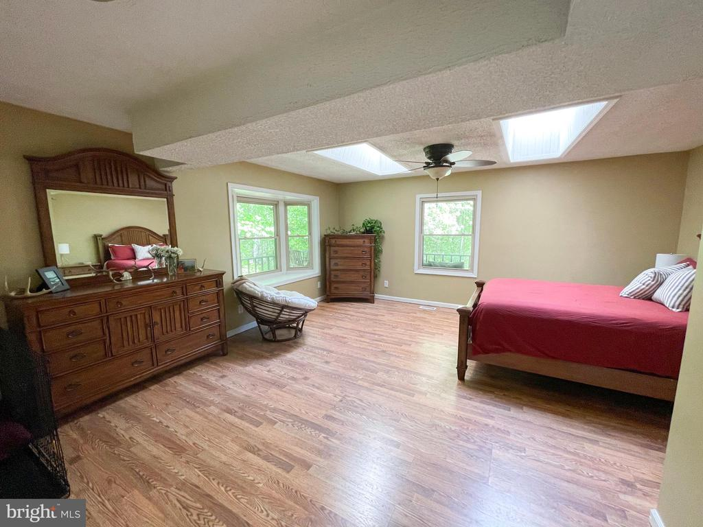Main level Master w/ sky lights - 1501 BROOKE RD, STAFFORD