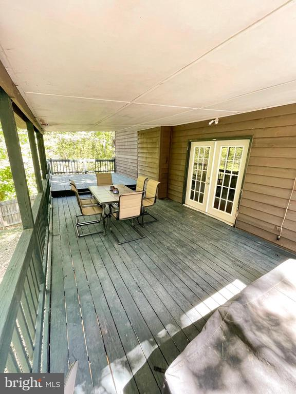 Covered Deck/Porch off of the Kitchen - 1501 BROOKE RD, STAFFORD