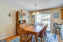 Plenty of room for table and chairs in dining area - 301 BURR DR, RUTHER GLEN