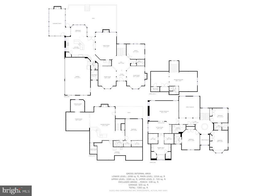 Combined floor plan - 3701 MAPLE HILL RD, FAIRFAX