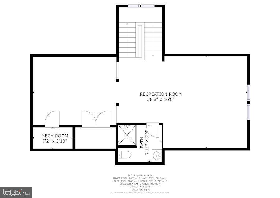 Upper Level 2- Loft afrea - 3701 MAPLE HILL RD, FAIRFAX