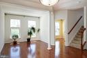 Living room with hardwood floors - 42740 OGILVIE SQ, ASHBURN