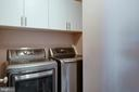 Upper laundry room with built-in storage cabinets - 42740 OGILVIE SQ, ASHBURN