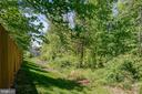 Private tree preserve viewed from rear of property - 42740 OGILVIE SQ, ASHBURN