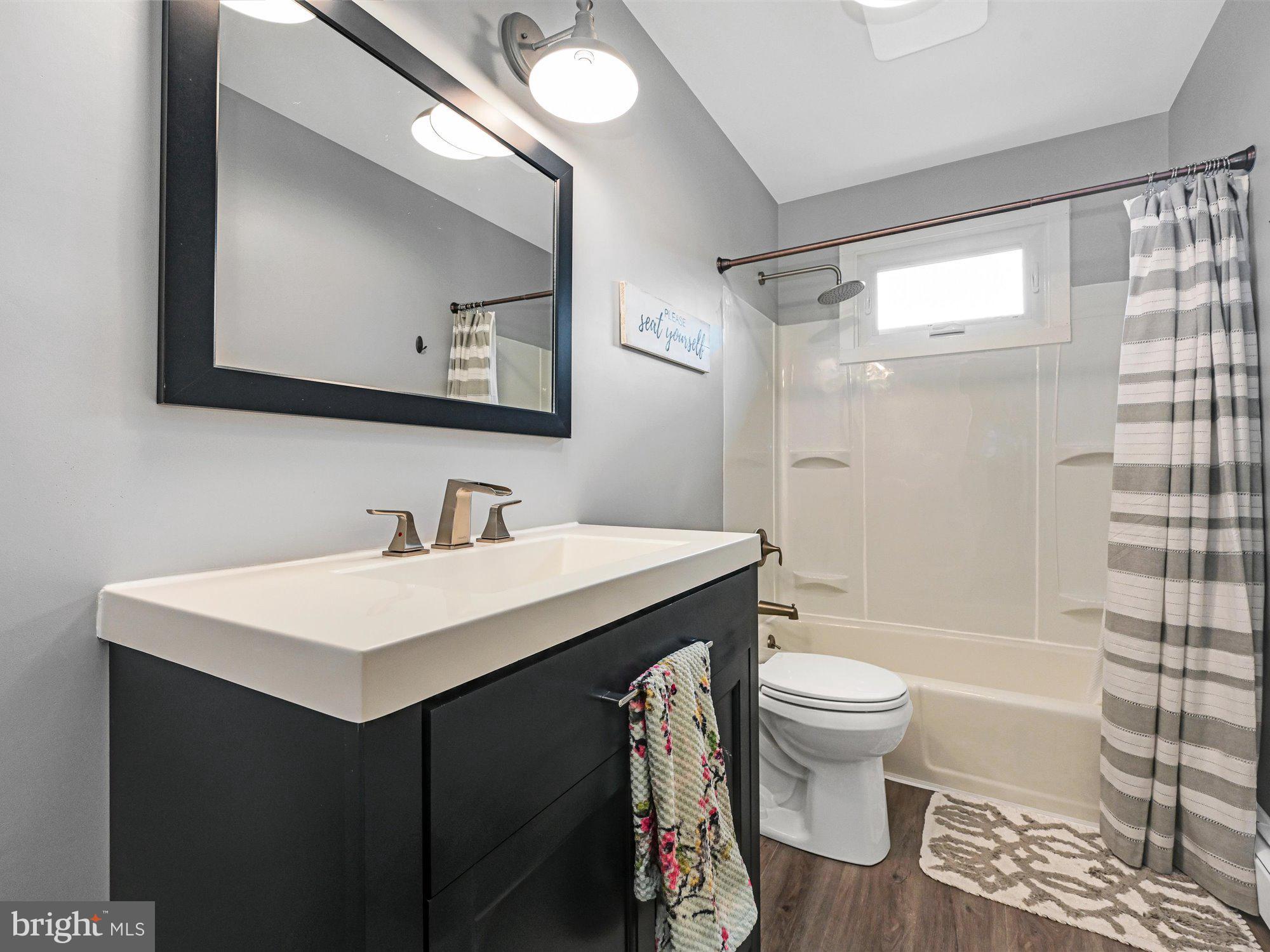 Recently updated 1st floor bath