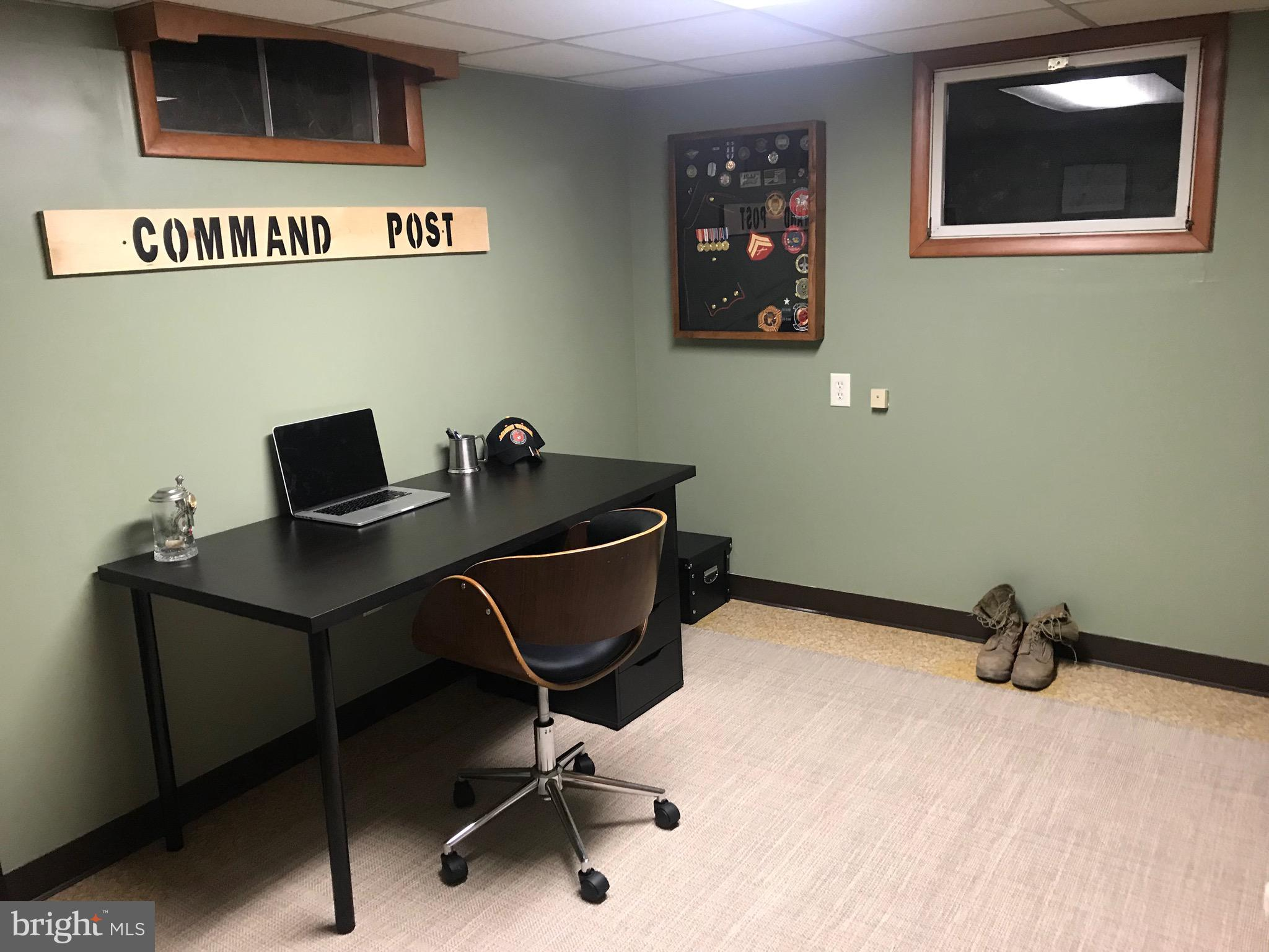 Basement office will be occupied.