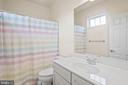 Second bathroom on upper level - 20585 STONE FOX CT, LEESBURG