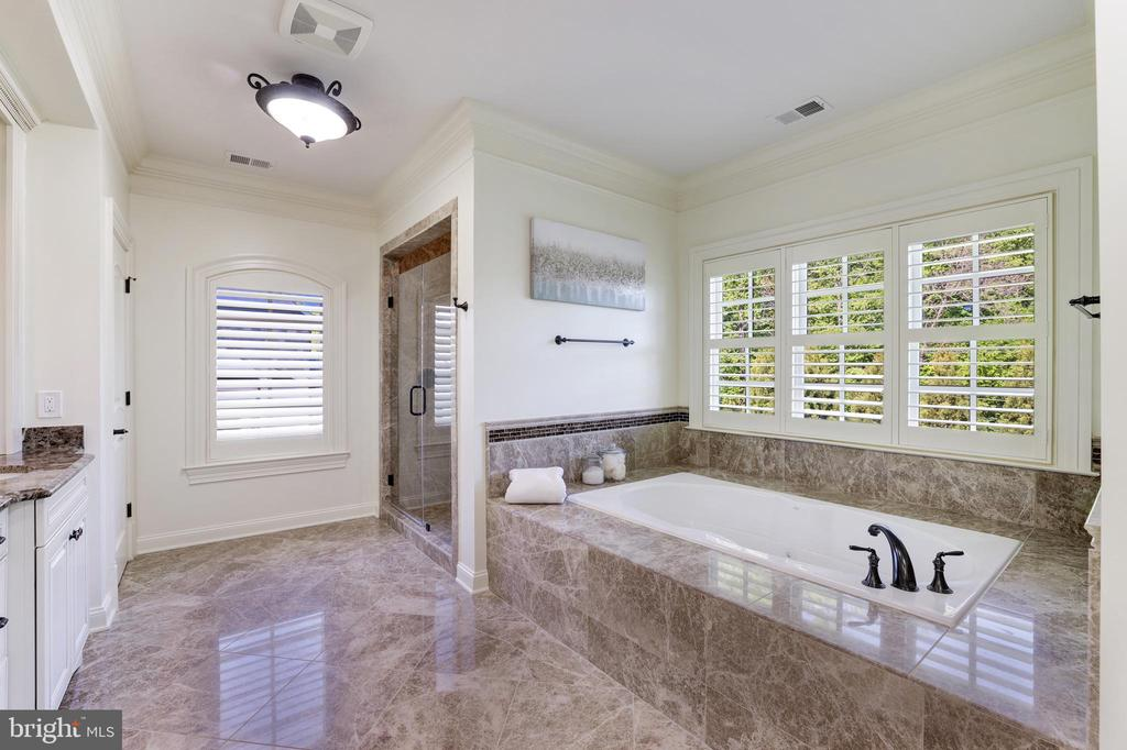 Owner's Suite Bath - Jetted Tub & Separate Shower - 957 MACKALL FARMS LN, MCLEAN