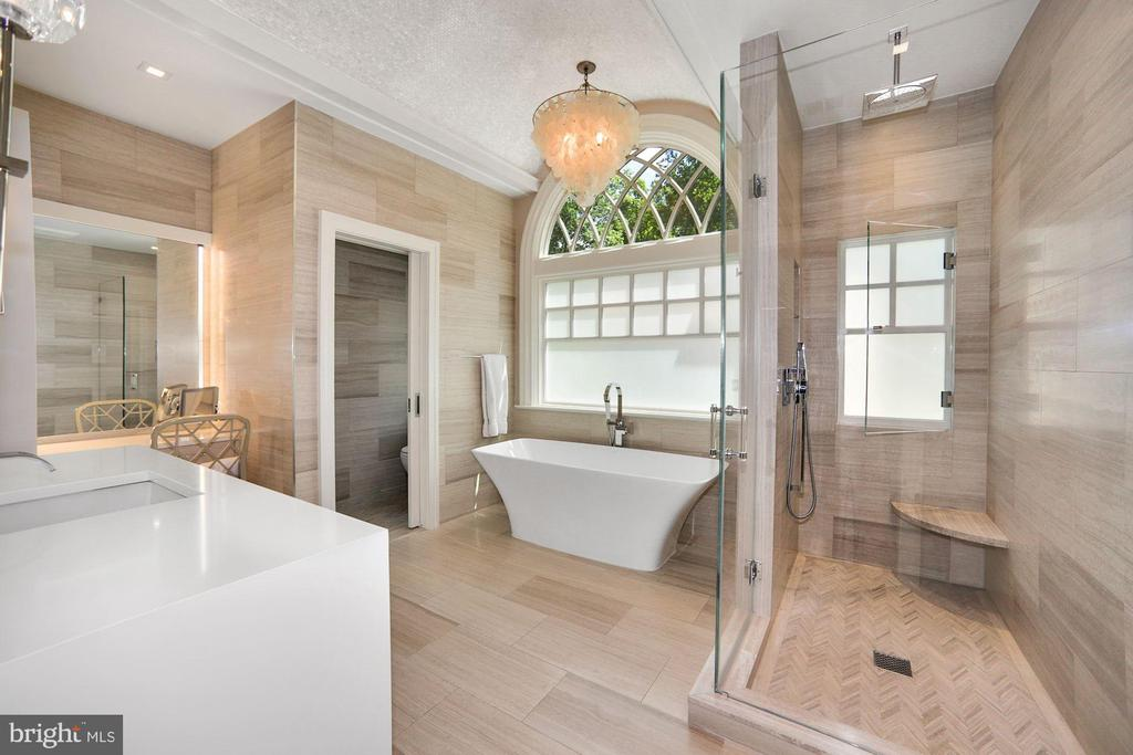 'Her' Bathroom custom built-ins - 7301 DULANY DR, MCLEAN