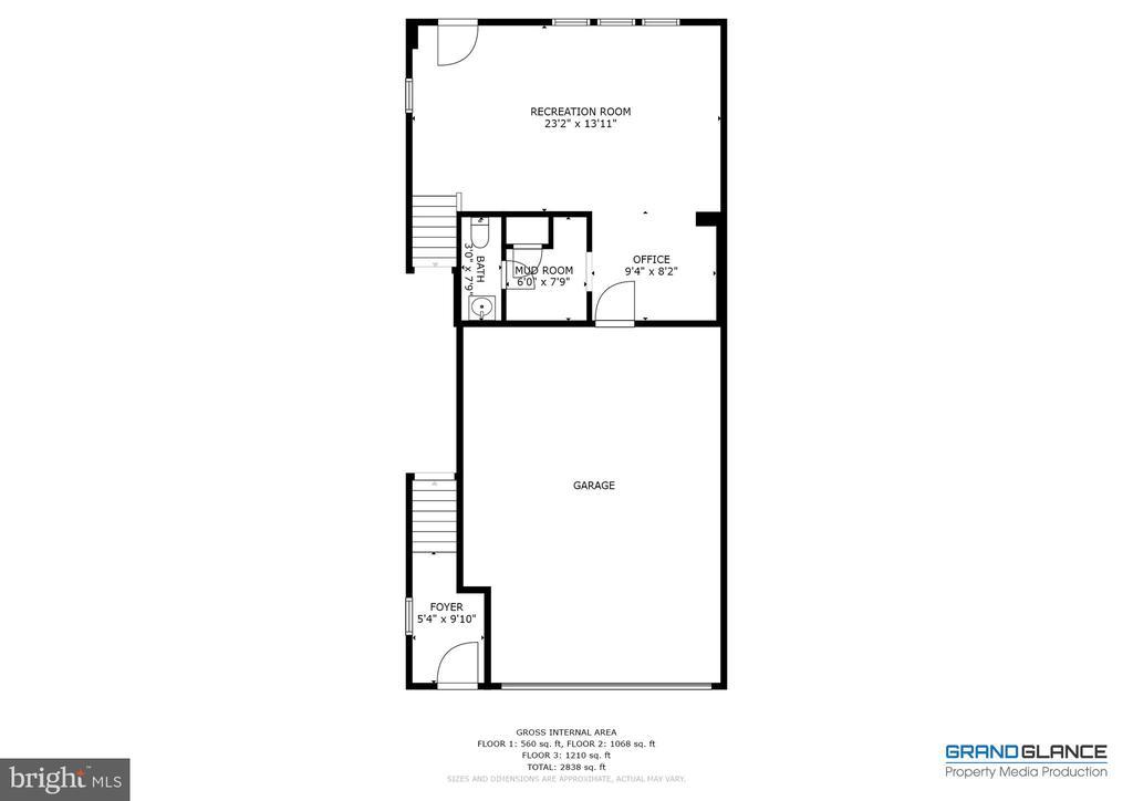 Floor plan - lower level - 42280 IMPERVIOUS TER, BRAMBLETON