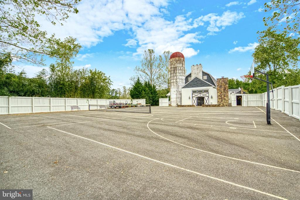 Lined full-size tennis court.Half-court basketball - 7500 CLIFTON RD, CLIFTON