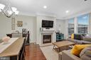 Dining Area and Family Room with fireplace - 42266 KNOTTY OAK TER, BRAMBLETON