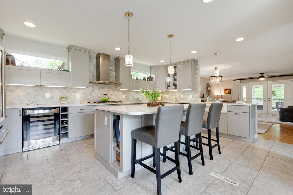 Kitchen with Wine Refrigerator - 5068 COLERIDGE DR, FAIRFAX